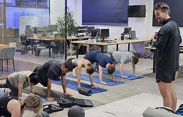 corporate personal training session exercises