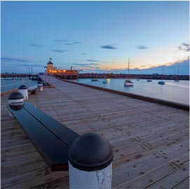 photo of st kilda pier at dusk