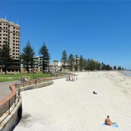 Beach Glenelg sunny with sand