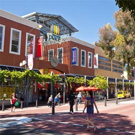 Norwood shopping with buildings