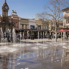 Parramatta fountains water clock