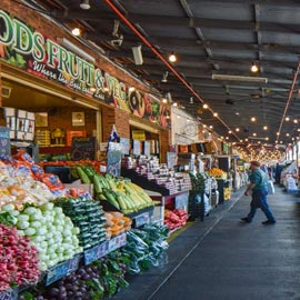South Melbourne market with fruit